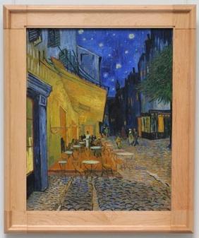 「夜のカフェテラス」  1888年作 オッテルローのクレラ・ミュラー美術館所蔵。 アルルの中心の広場にあるカフェ。