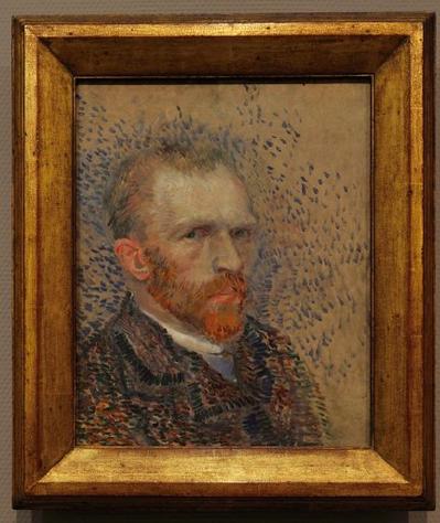 1887年作の肖像画。アムステルダムのファン・ゴッホ美術館所蔵
